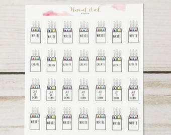 Rae Dunn Inspired Pen Cup Planner Stickers
