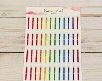 Rainbow of Colors - Pengems Inspired Planner Stickers