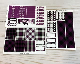 Purple Plaid EC Vertical Mini Weekly Kit - Bundle Option