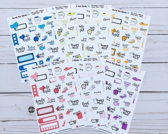 Hello Summer Monochromatic Sampler Planner Stickers - Choice of color or bundle