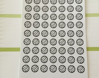 Volleyball Mini Planner Stickers