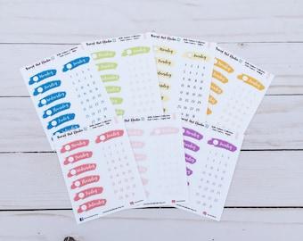 Hello Summer Weekly Date Cover Planner Sticker Sheet