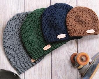 Crochet hat pattern for men Ripple