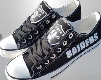 863a042591674c Converse Oakland Raiders Women s Shoes