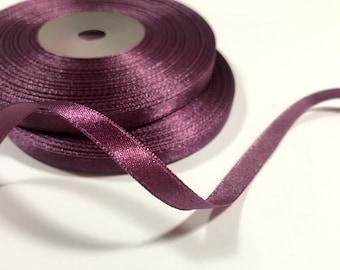 2 Yd Lengths of 38 Mauve Satin Ribbon Tone on Tone Floral Design SALE