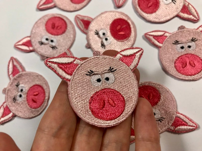 Cute Pig Iron on patch 1.85 inches 4.7 cm Comes by 1 Appliqu\u00e9