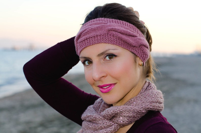 33935489c65a9a Damen Strick-Stirnband Kabel Stirnband häkeln Stirnband | Etsy