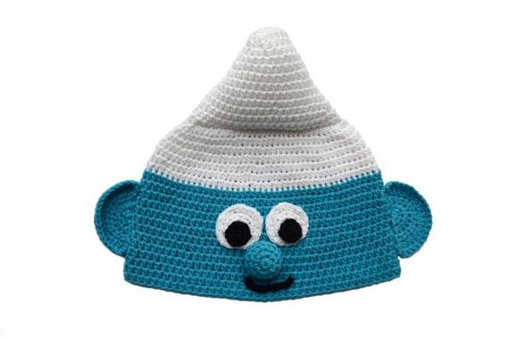 Haak Smurf Peuter Jongen Hoed Jongen Babymutsje Kids Smurf Etsy