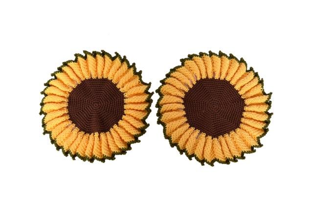 Sonnenblume Untersetzer häkeln Deckchen Sonnenblume Küche | Etsy