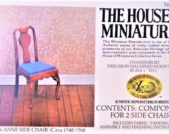 House of Miniatures Chippendale Candlestands Kit//Set of 2//Circa 1750 #40049