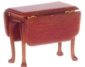 Dollhouse Miniature 1 24 Scale Jefferson Drop Leaf Table, Walnut Finish T6908