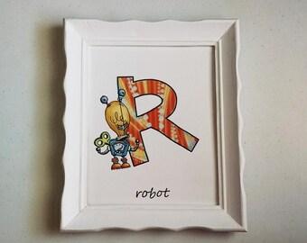 Single Letter (Boys) - Customized Print