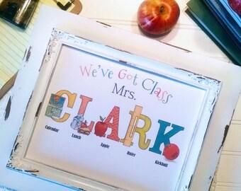Custom Teacher Gift for Teacher Appreciation Week / End of School