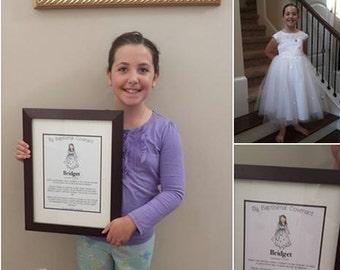 Custom Portrait - Baptism / Confirmation Day