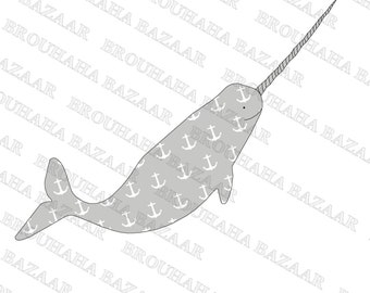 Narwhal with anchor print