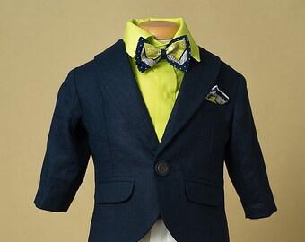 Ensemble en lin garçon costume Gatsby le magnifique premier  e24433e0238
