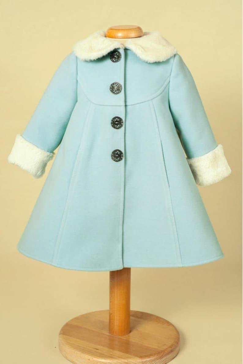 6d0a4a193a89 Blue Natalie Baby Girl Coat Spring Coat for Girls Girl