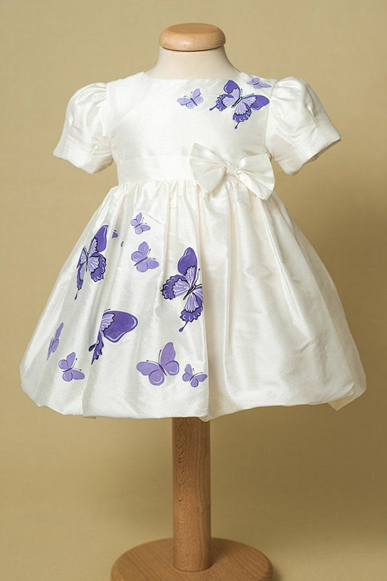 Purple Butterfly Flower Girl Dresses