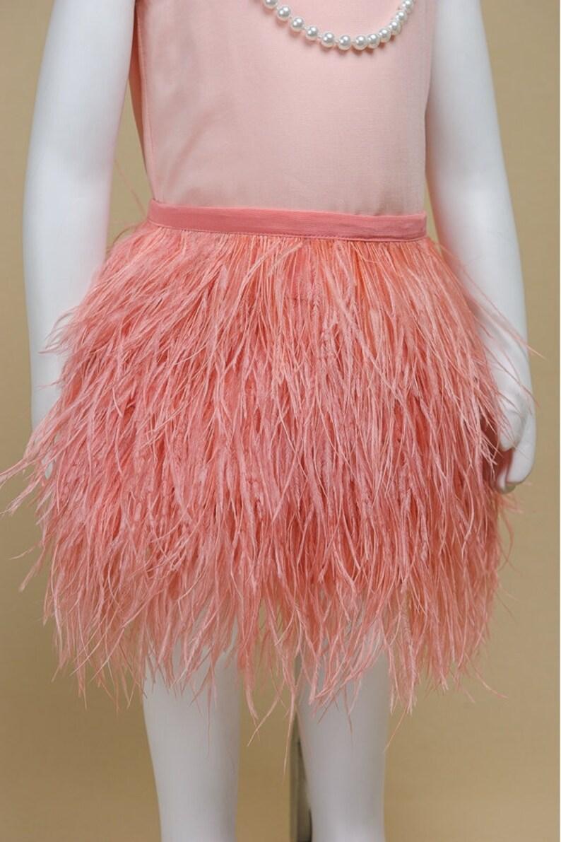 80ae11a0966b13 Jordan Feather Skirt Elegant Skirt for Little Girls Coral