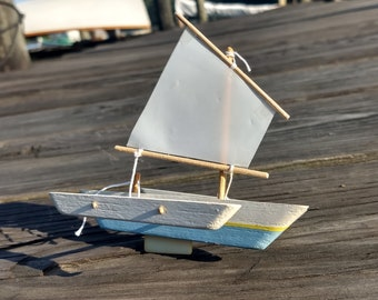 YAWL 11\u201d Wood Model Sailboat Kit-A Seaworthy Small Ship toy boat that really sails-Handmade in the USA-Build in minutes sail a lifetime