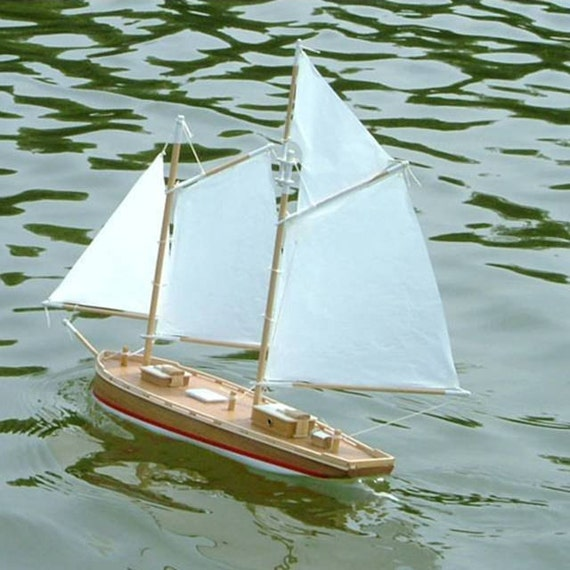 Coaster 16 Wooden Schooner Model Toy Boat Sailing Kit A Seaworthy Small Ship That Really Sails Made In The Usa