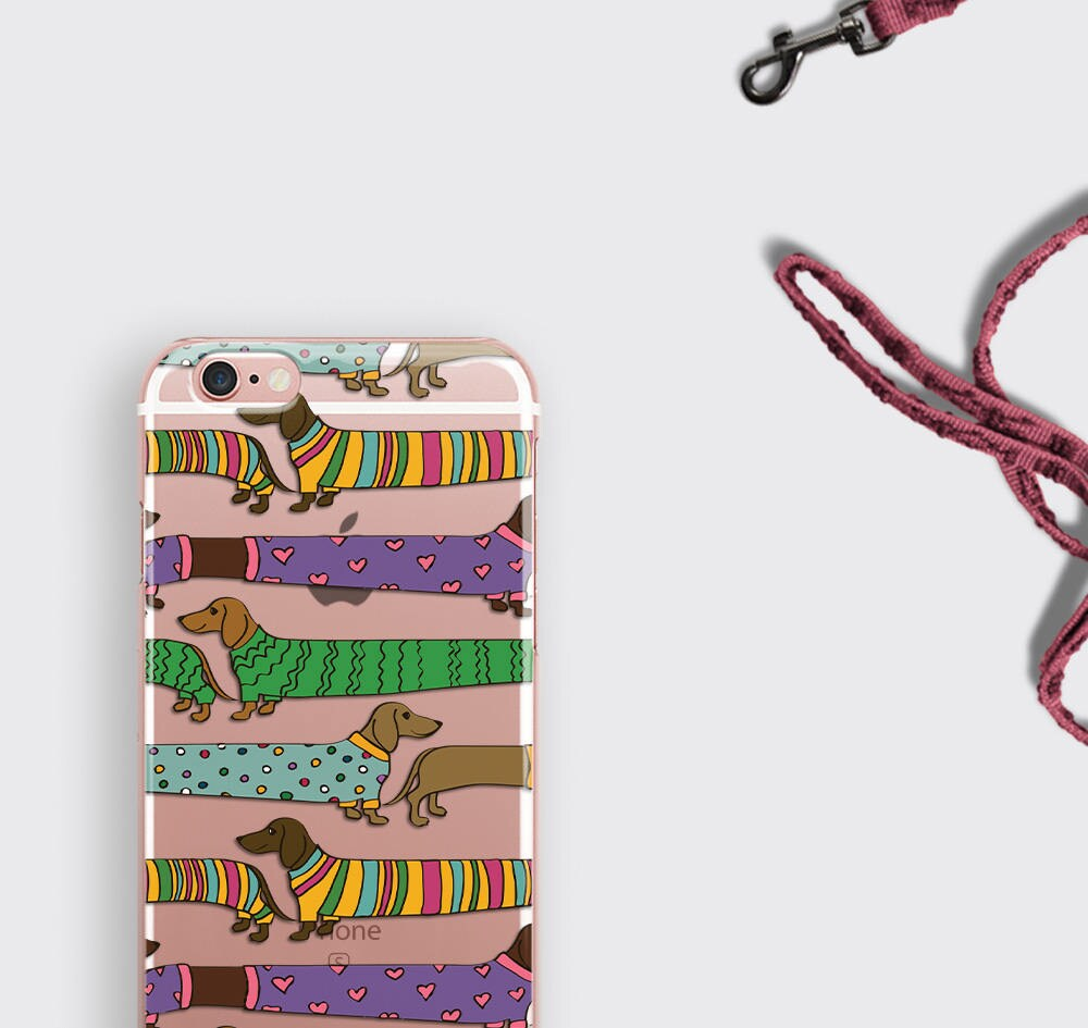iphone 7 case sausage dog