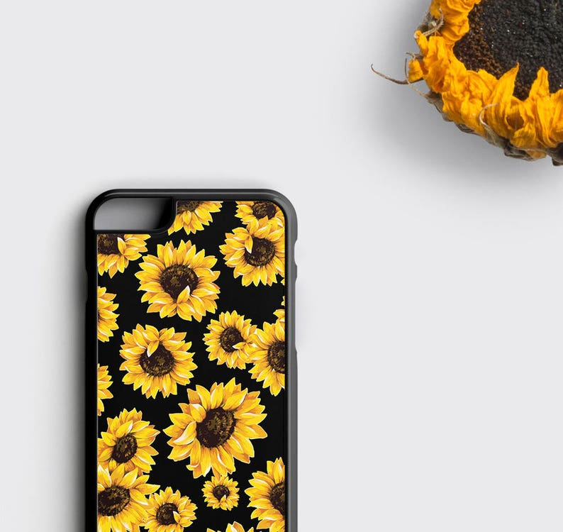 pretty nice 75ea3 d0019 Sunflower iPhone 6S Case Samsung Galaxy Cover, Floral iPhone Case -  Sunflowers iPhone 6 Plus Case, iPhone SE Case Floral, Gift for Her
