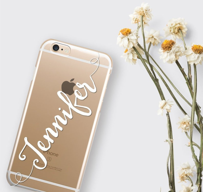 timeless design d5a3b 0eae3 Custom Personalized Clear iPhone XS Case, iPhone 8 Cover Custom iPhone 7  Case Transparent Silicone iPhone 6 Case Christmas Gift iPhone Case