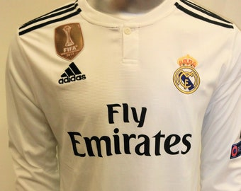 d443781617c Real Madrid C.F. Football Soccer Kit Home Long Sleeve 2018-2019 (Champions  League Edition)