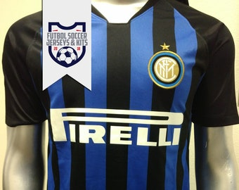 11eb2d1c5 Inter Milan Black Blue Home Football Soccer Jersey - Serie A 2018-2019 - NEW