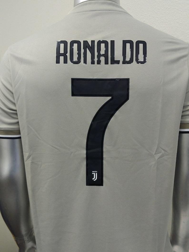 73e64fe6a1c Cristiano Ronaldo Juventus Away Football Soccer Jersey Serie | Etsy