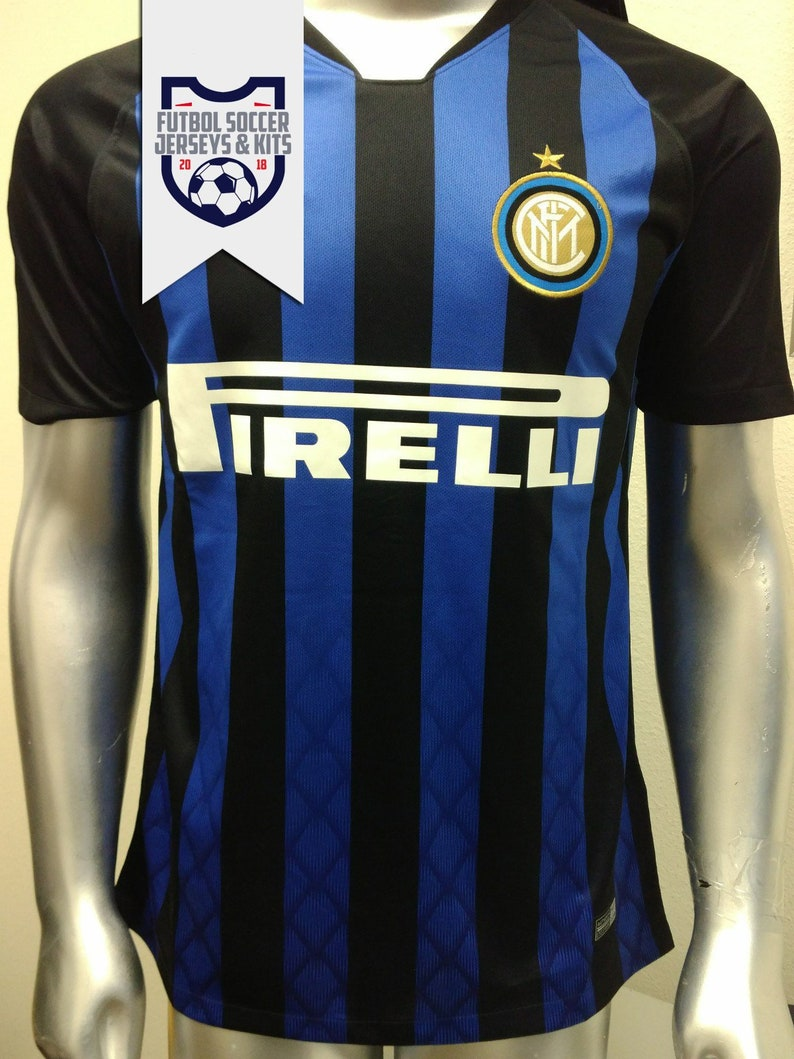 timeless design c2d81 aca54 Inter Milan Black/Blue Home Football Soccer Jersey - Serie A 2018-2019 - NEW