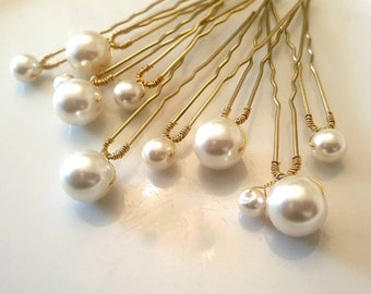 wedding hairpin Bridal hair pins pins wedding hair pin pearl hair pins freshwater pearls gold hair pin