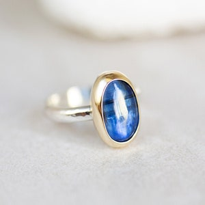 Handcrafted 9k yellow gold /& 925 sterling Silver ring 925 Turquoise ring ms r124 Any size