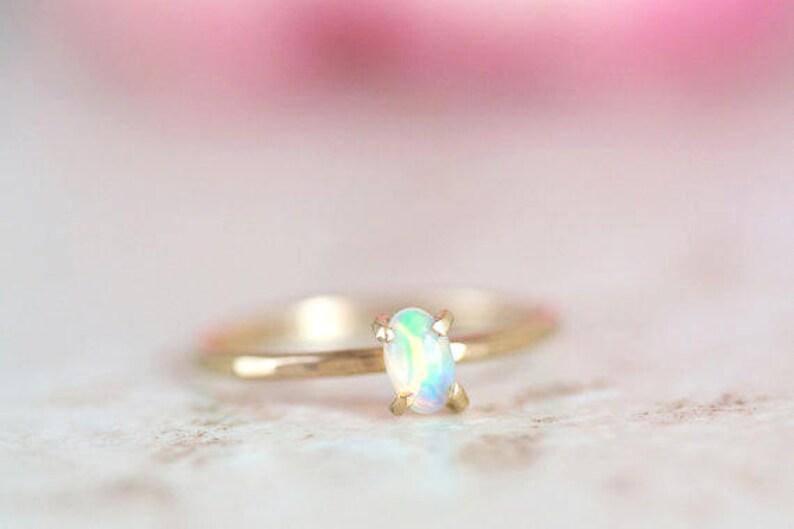 82b7cab9d427d Opal Ring, Ethiopian Opal Ring, Opal Prong Set Ring, 14K Gold Opal Ring,  10K Gold Opal Ring, 14K Rose Gold Opal Ring, Silver Opal Ring
