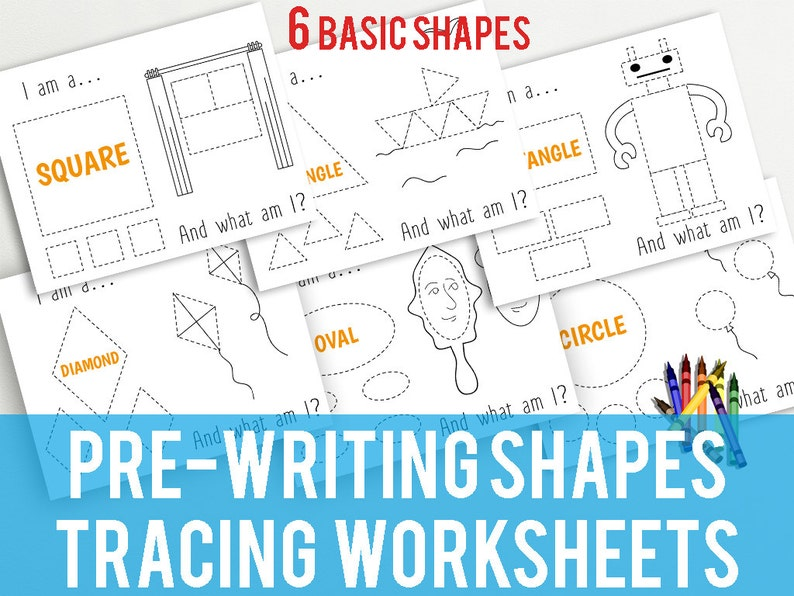 photograph about Na Basic Text Printable known as Printable Styles Tracing Worksheets For Early Crafting- Sq., Circle, Triangle, Rectangle, Oval, Diamond