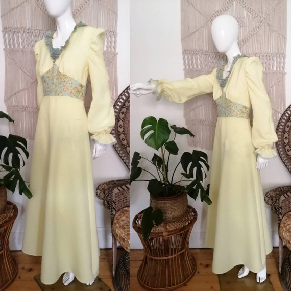 Vintage 1970's does 30's maxi dress