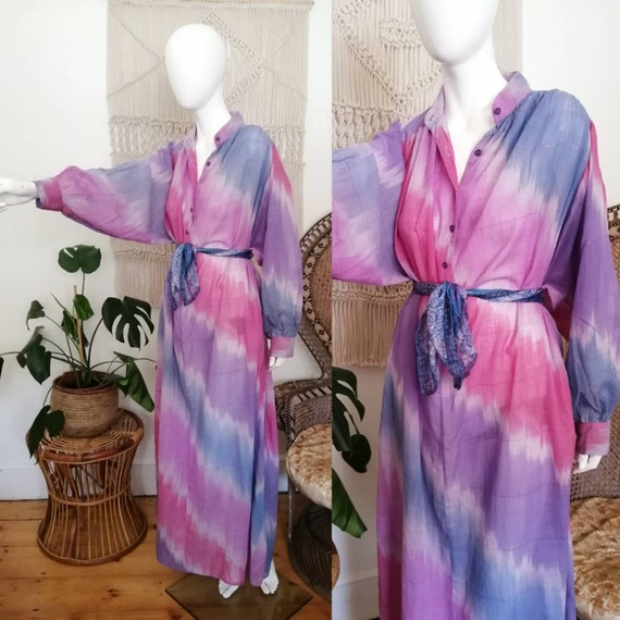 Vintage 70's Sultana by Adini indian cotton maxi d