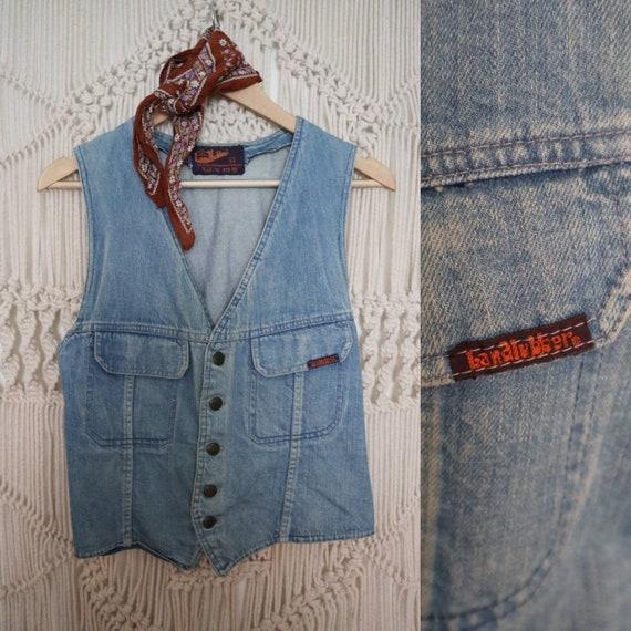 Vintage Landlubber denim waistcoat/vest