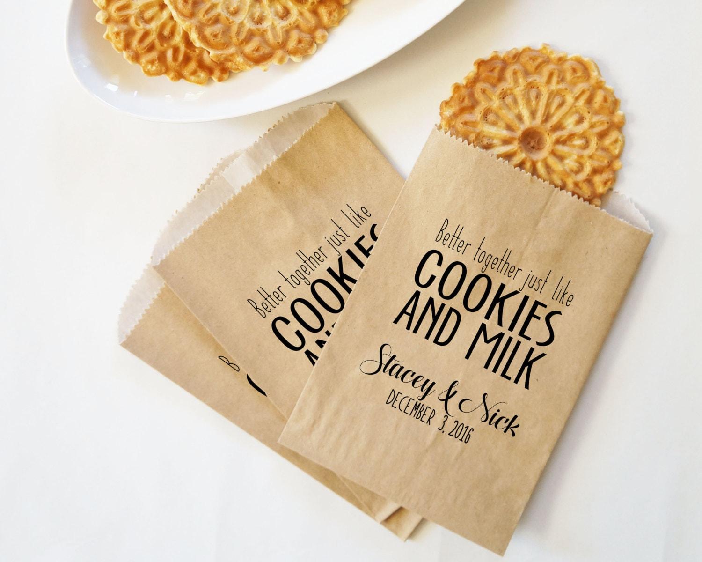 Wedding Cookie Bags Fall Wedding Favors Autumn Wedding Milk Etsy