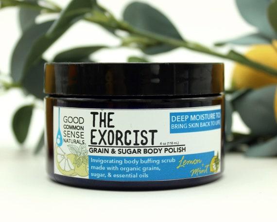 Organic Sugar Scrub - Lemon Mint Body Polish - All Natural Sugar and Grain  Exfoliating Scrub - Essential oils Sensitive Body Scrub