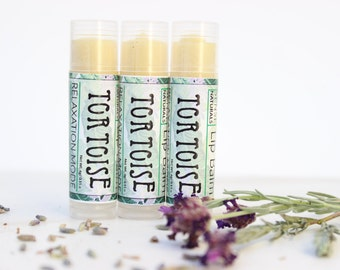 Organic Lavender Lip Balm - All Natural Lip Balm - Lavender Peppermint Lip Moisturizer - Essential oil Travel Lip Balm - Lip Balm Tube