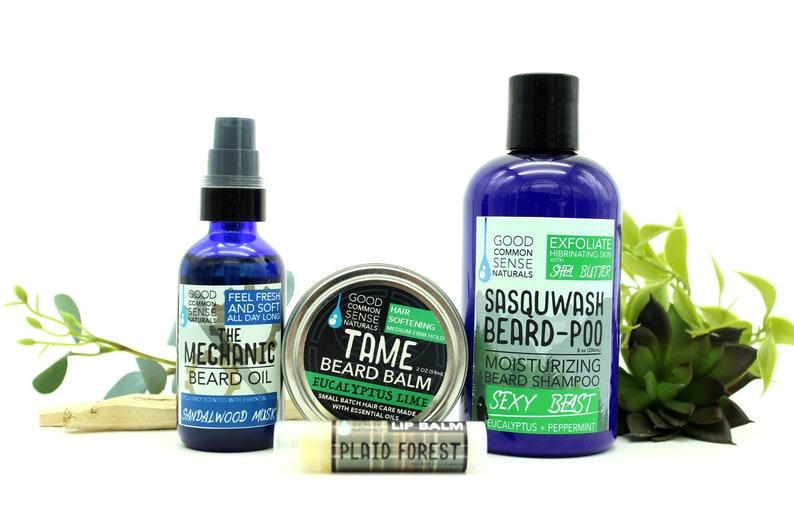 Beard Care Gift Set - Beard Grooming Set - Beard Wash - Gift For Him -  Beard Balm - Groomsman Gift - Beard Oil - SCRUFF STUFF Gift Set