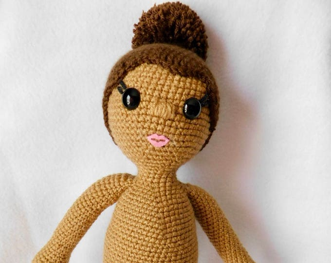 Crochet Doll Pattern, African American Doll, Bianca Doll