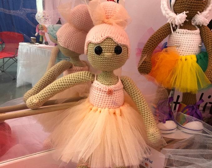 Custom Crochet Ballerina Doll, Crochet Doll, Crochet Ballerina