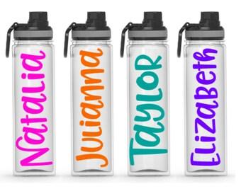 Personalized Water bottles - clear 20 ounce Tritan, custom water bottle, graduation, gift, beach trip, girls night, bachelorette, customized