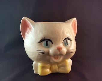 Cat Head Cookie Jar/Planter/Vase