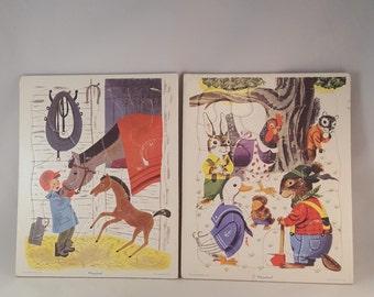 Playskool Cardboard Puzzles - Golden Press