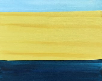 Summer Seascape - Beach-Inspired Abstract Painting