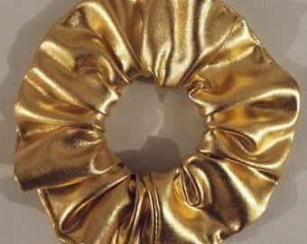 Metallic gold hair scrunchie